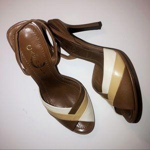 CASADEI EUC VINTAGE PINUP 70s peep toe pumps 8.5